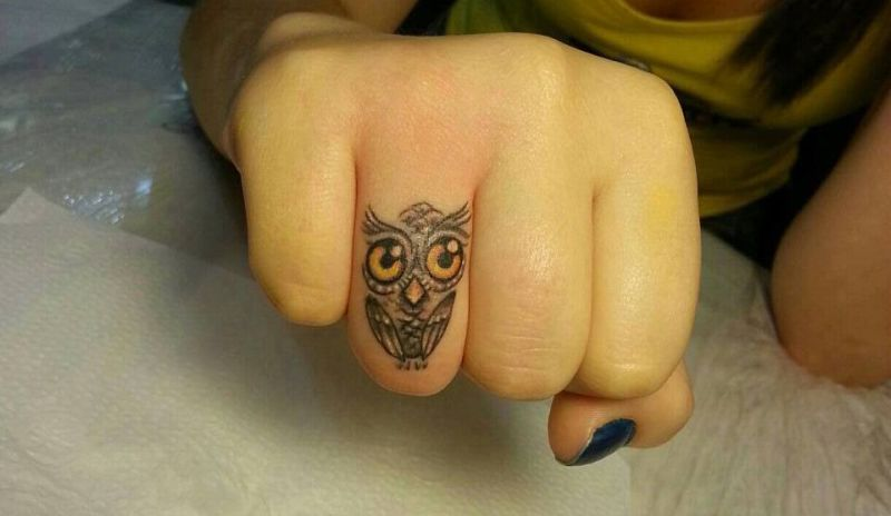 small owl tattoos for girls