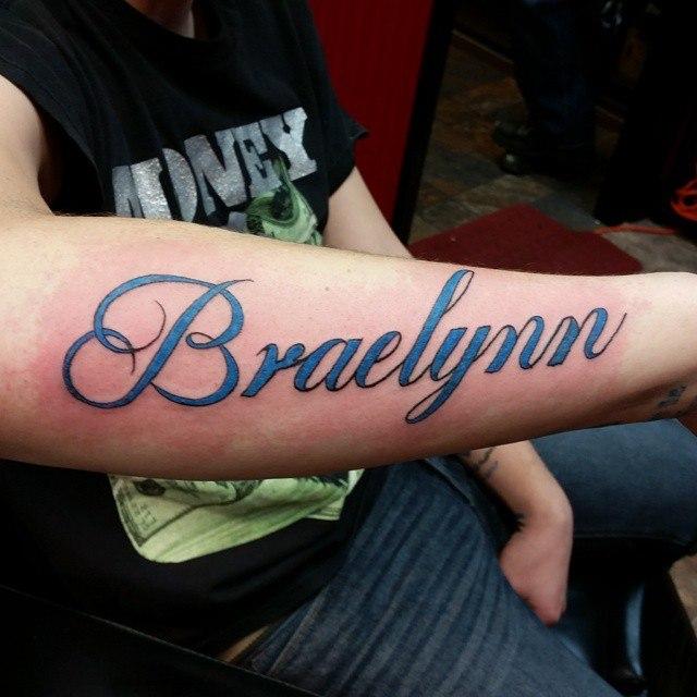 name tattoos for men on arm ideas