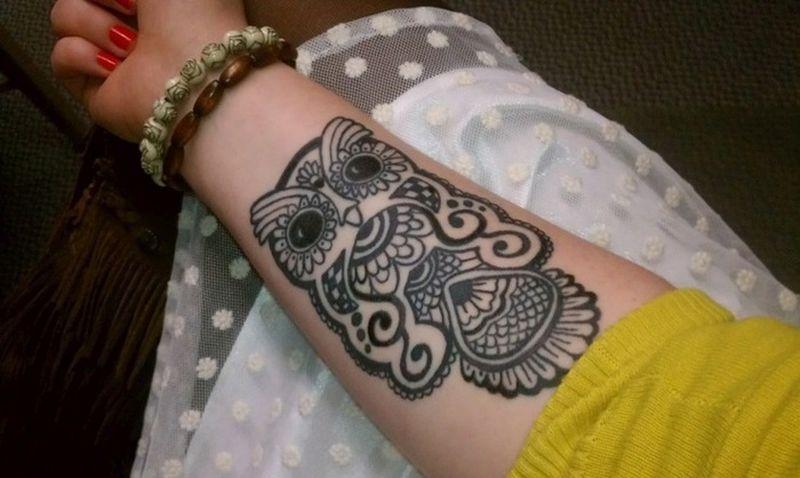 arm owl tattoo ideas for females