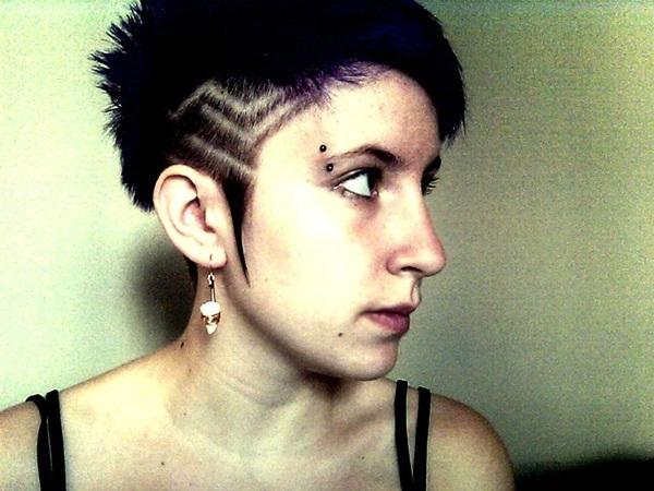 feminine eyebrow piercing