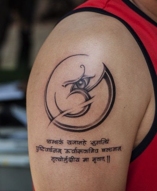 shiva tattoo on hand