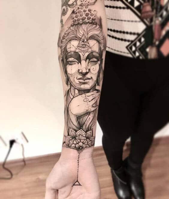 shiva women's arm tattoo sleeve