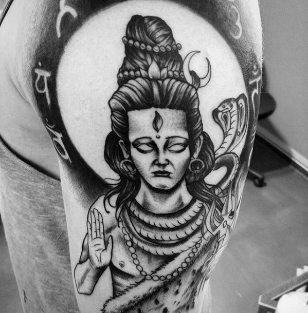 shiva full sleeve tattoo