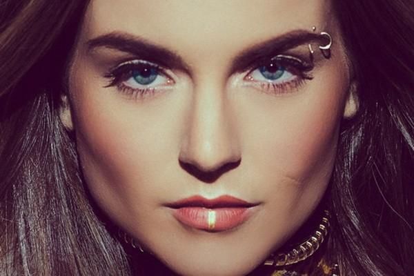 delicate eyebrow piercing