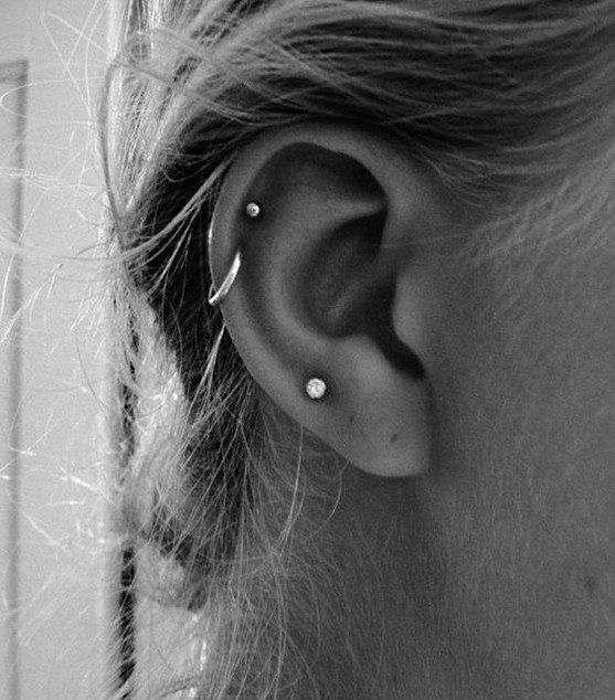 types of ear piercings female