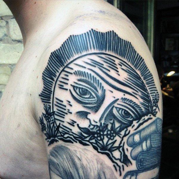 sun moon dreamcatcher tattoo