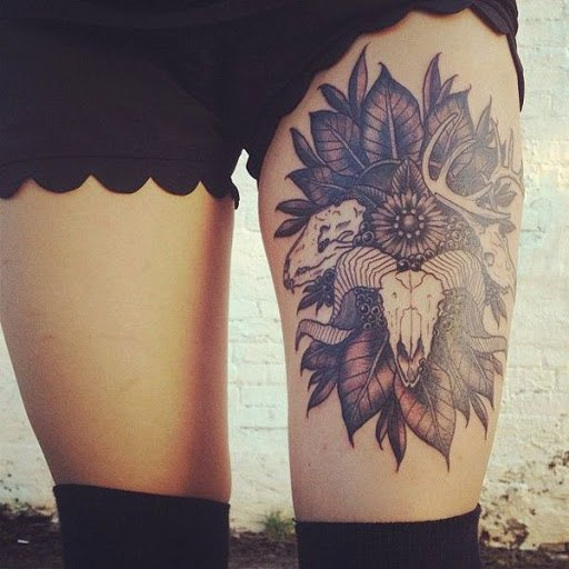 leg mandala tattoos for women