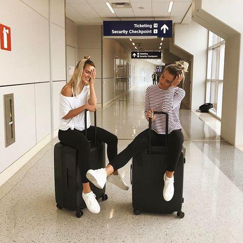 airport photoshoot girl ideas