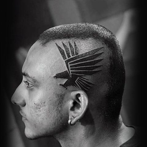 wild bird temporary head tattoos