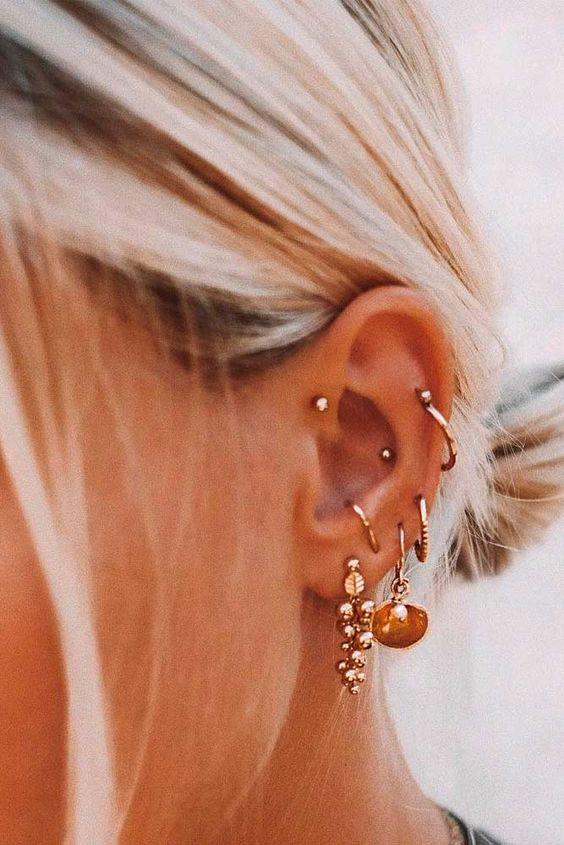 women's ear piercing ideas