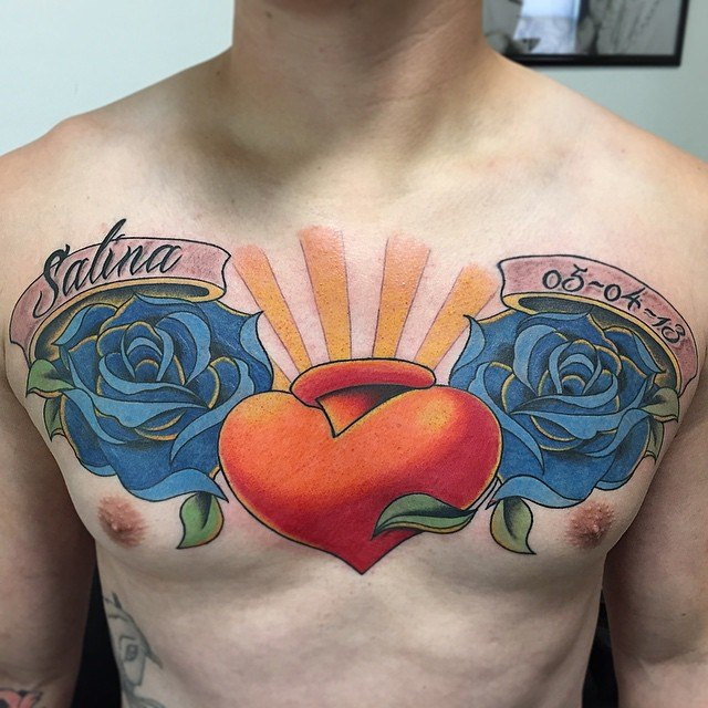 name chest tattoos for guys images ideas
