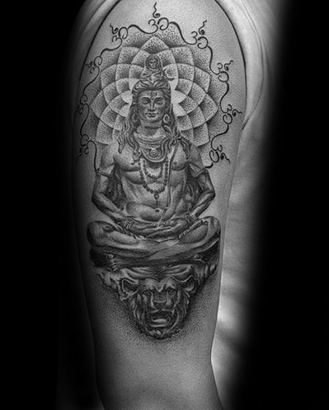 tattoo designs for men shiva on arm