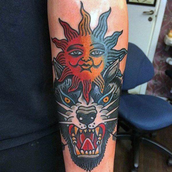 guys sun art tattoo