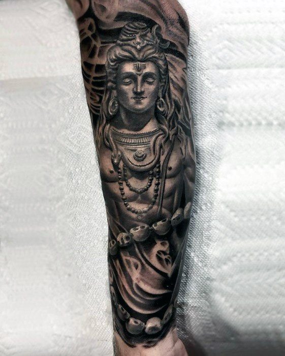lord shiva forearm tattoo