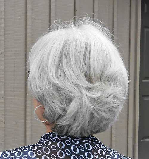 grey hair styles bob