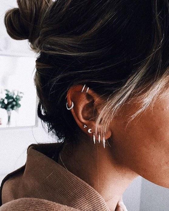 ladies ear piercing images