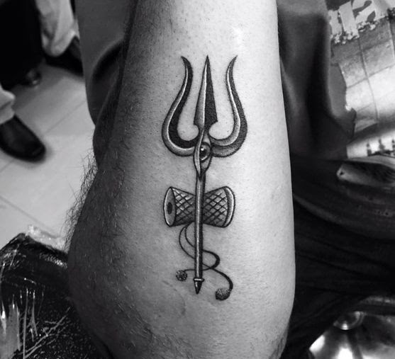 trishul tattoo for men