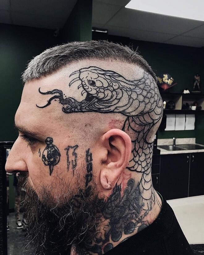 head snake tattoo
