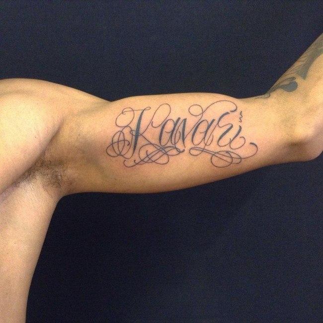 mens tattoos name designs