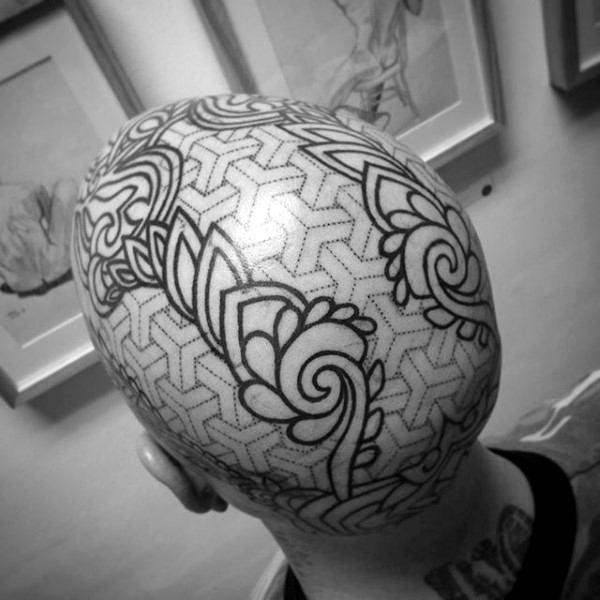 bald man tattoo