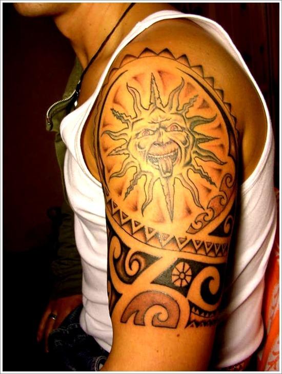 sun tattoo small