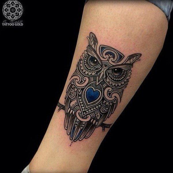 owl tattoo for girls design ideas