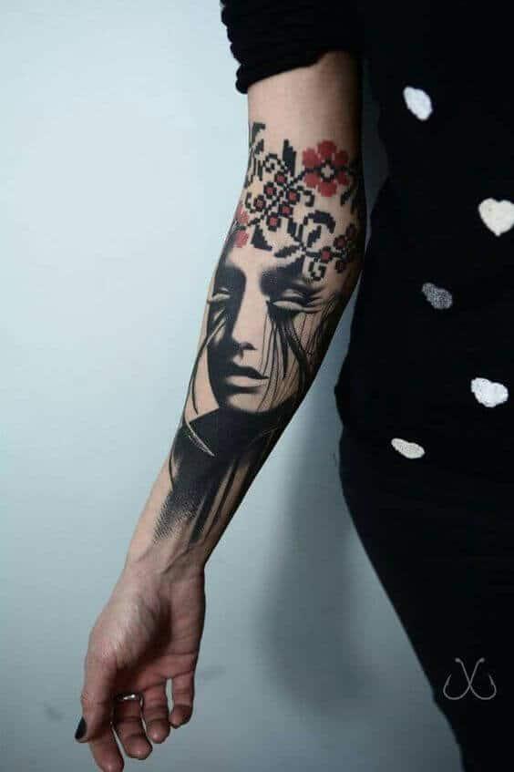 pretty sleeve tattoo ideas