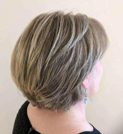 bob hairstyles for older ladies with fine hair images