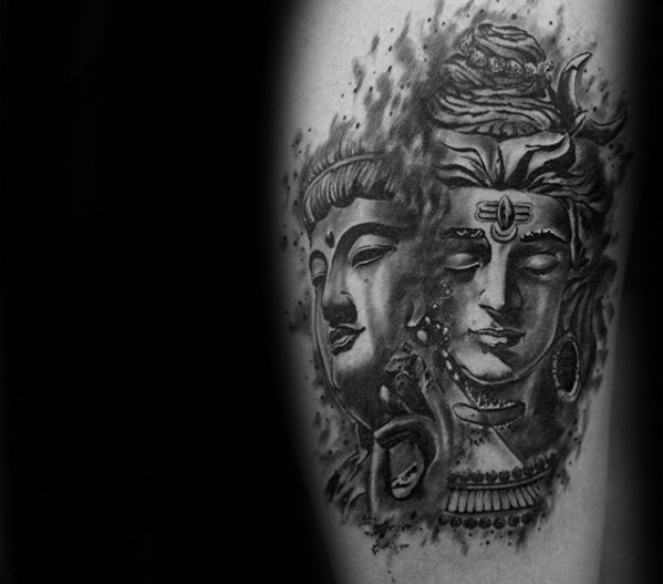 Shiva tattoos capture on men arm ideas
