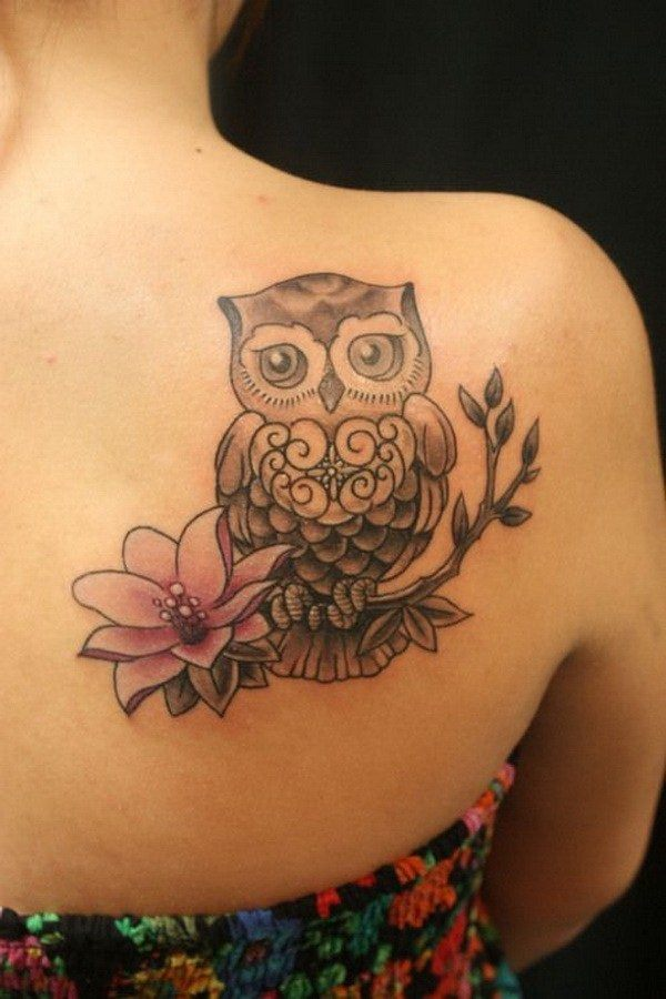 back owl tattoos for females images
