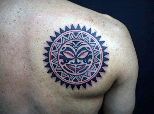sun tattoo men