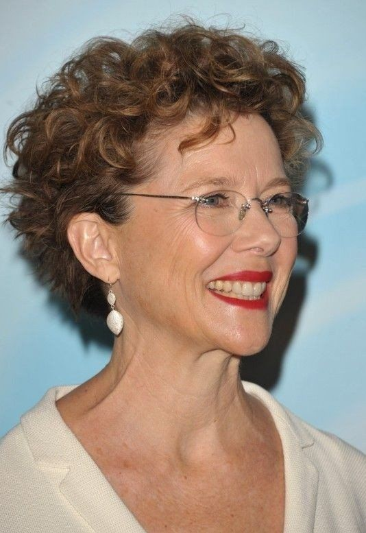 cool short curly hairstyles  female over 50