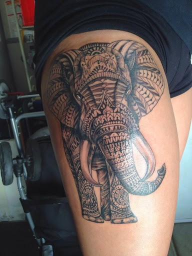 attractive  sexy leg tattoos for females images
