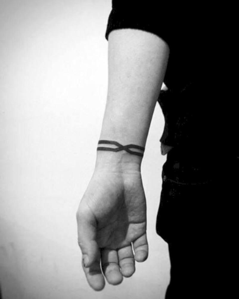wrist BLACK BAND TATTOO  ideas design