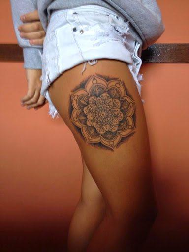 leg mandala attractive  tattoos  women