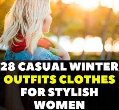 Trendy fashionable clothes in winter