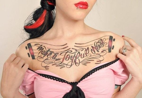 tattoos on upper chest females design