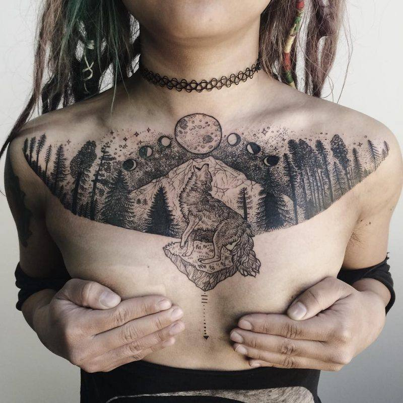 meaningful chest tattoo ideas