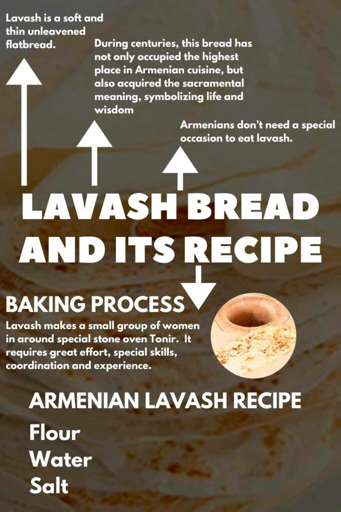 Lavash is a traditional thin bread of Armenian cuisine.