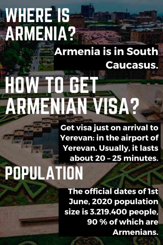 Armenia is situated at a cultural, historical,Europe and Asia