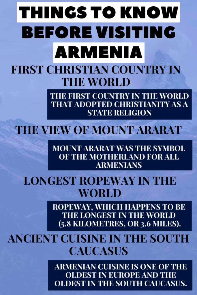 Things to know before visiting in this beautiful country Armenia