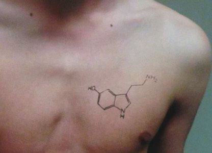 best small chemical tattoo  for guys on chest