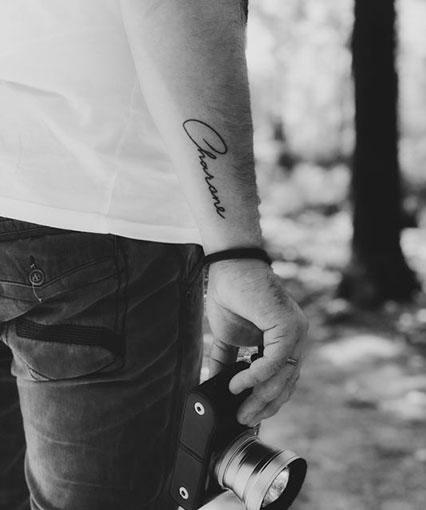 short text arm tattoo ideas for guys
