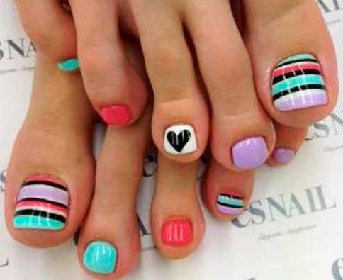 interesting ideas of toenail arts