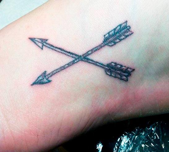 cross arrow  small arm tattoos for guys ideas