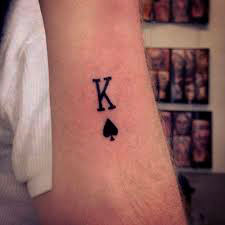 small letter tattoo on arm for guys ideas