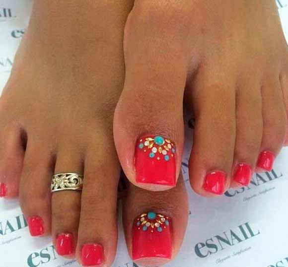 Toe-nail designs have been popular