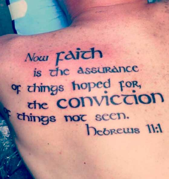 bible quotes tattoo on back