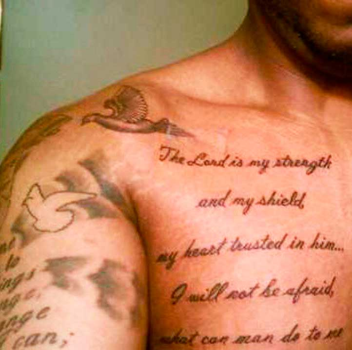bible verse tattoos on chest