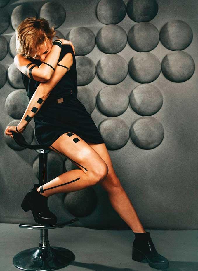 upper arm tattoos for females